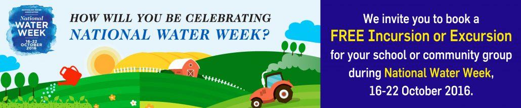 National Water Week 2016 banner