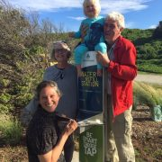 Family at Water Refill Station