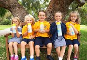 Choose Tap Newhaven Primary School kids on bench