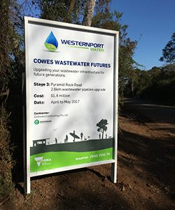 Wastewater Futures project sign