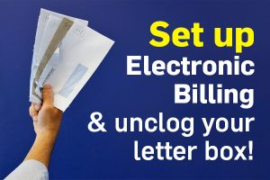 Set up electronic billing message