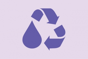 Recycled water symbol
