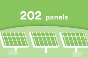 Solar panels 202