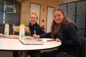 Newhaven College senior students were grateful for the reusable water bottles